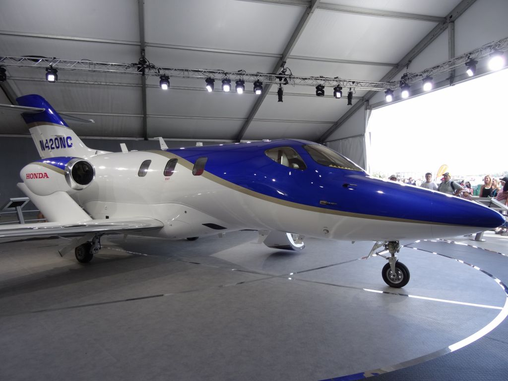 Honda still had the same jet for display, hopefully it's that much closer to being for sale :)