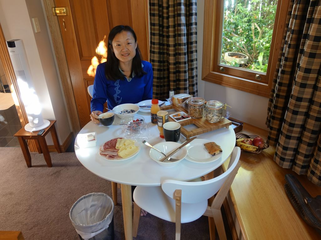 Breakfast in our B&B