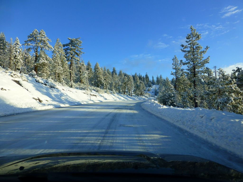 drive up was much nicer than expected, even if the snow line was low.