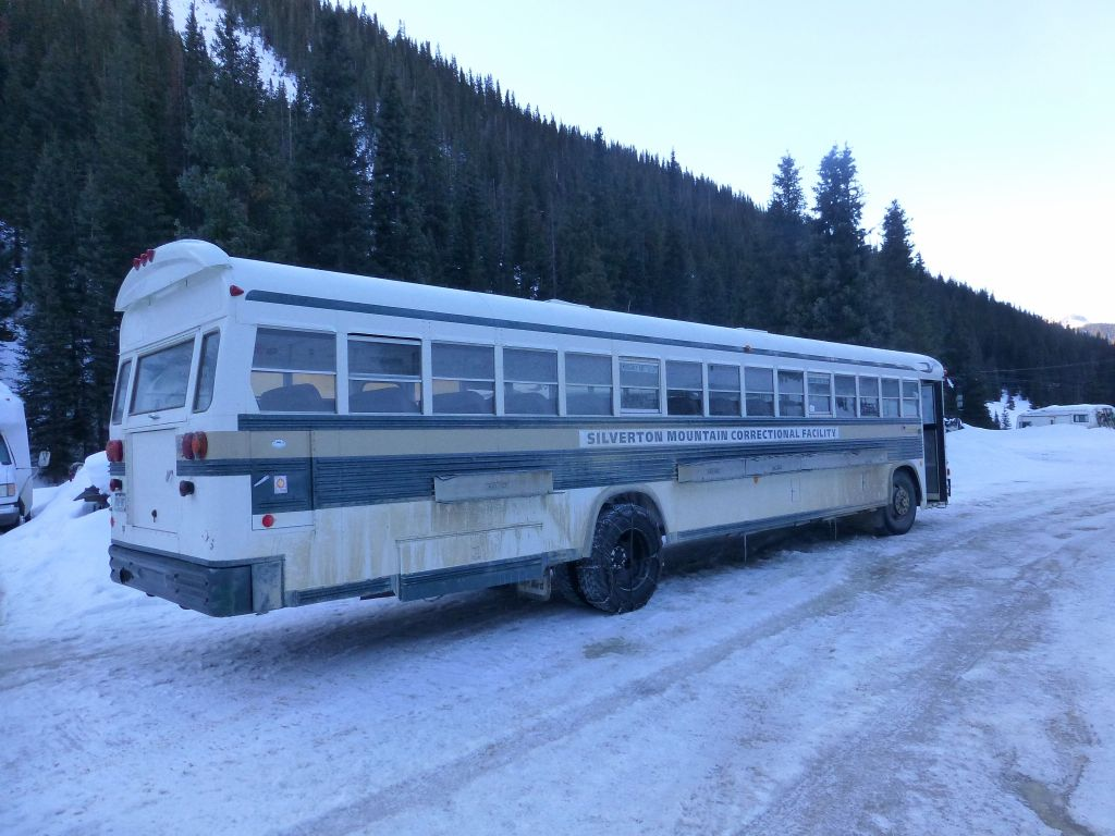 Nice bus to pick up skiers at the bottom of some slopes :)