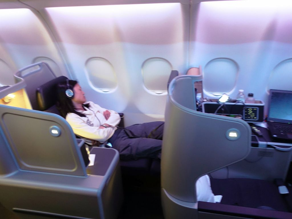 Qantas has stupid carry on policies, but nice seats in business