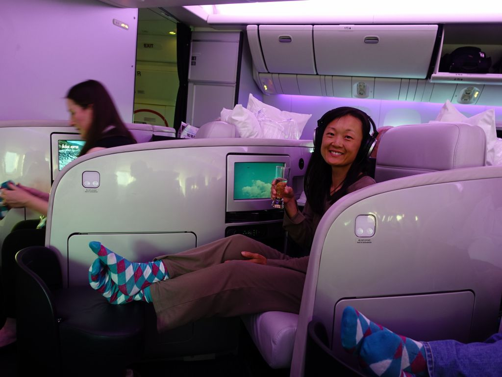 The AirNZ flight in business was quite nice :)
