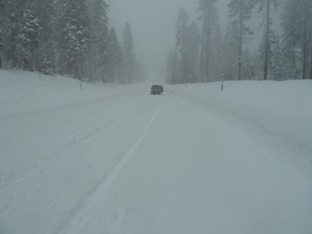 caltrans plowing was 'minimal' as you can see.