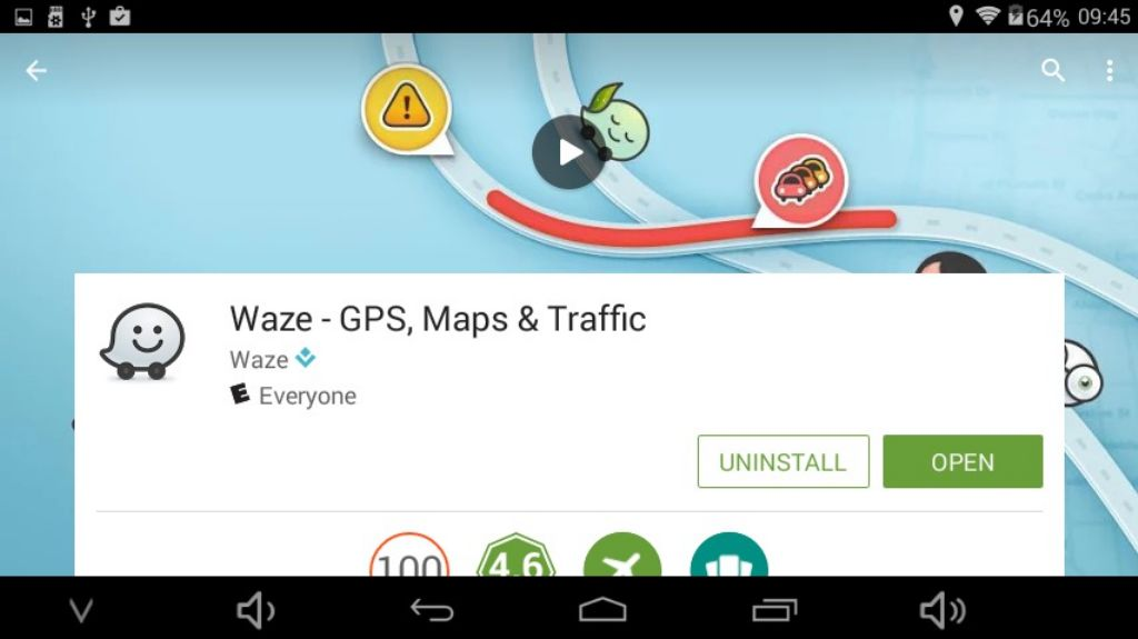 technically Waze should work, but practically it's going to be an exercise in frustration due to lack of RAM