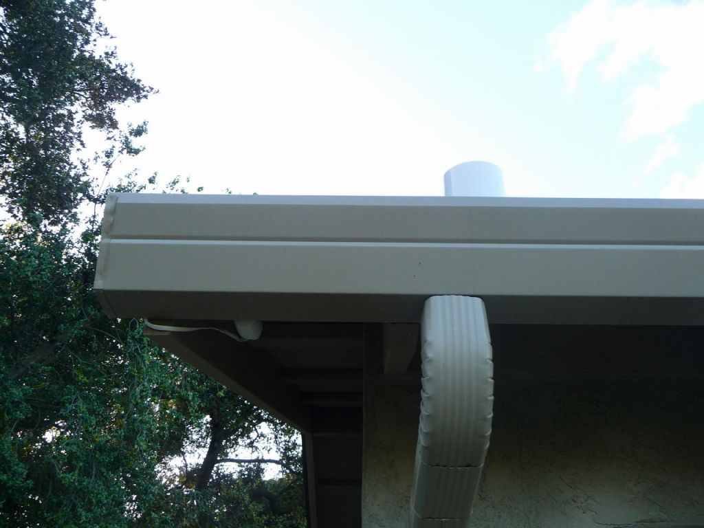 rain sensor on top and hygro/temp sensor in the shade under the roof
