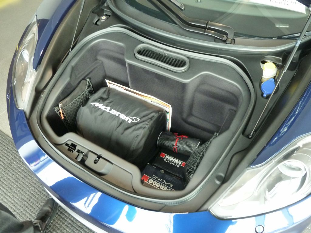 Storage space is limited, even less than the F430