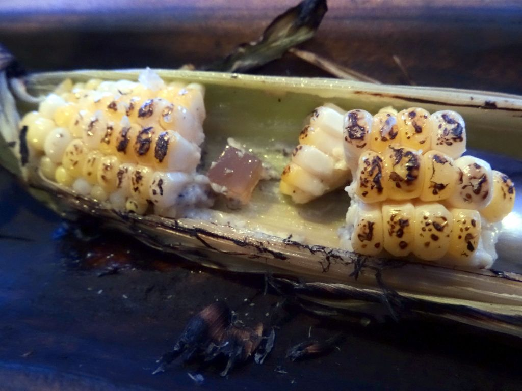 fake corn with bacon and other yummy stuff in there