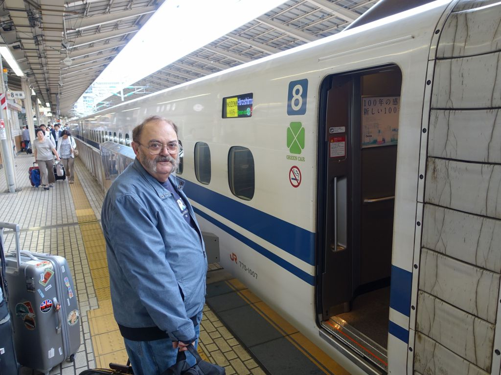 boarding our shinkansen