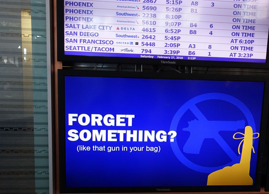 Is that a gun in your bag? Apparently the TSA finds many guns people forget in their carry ons...
