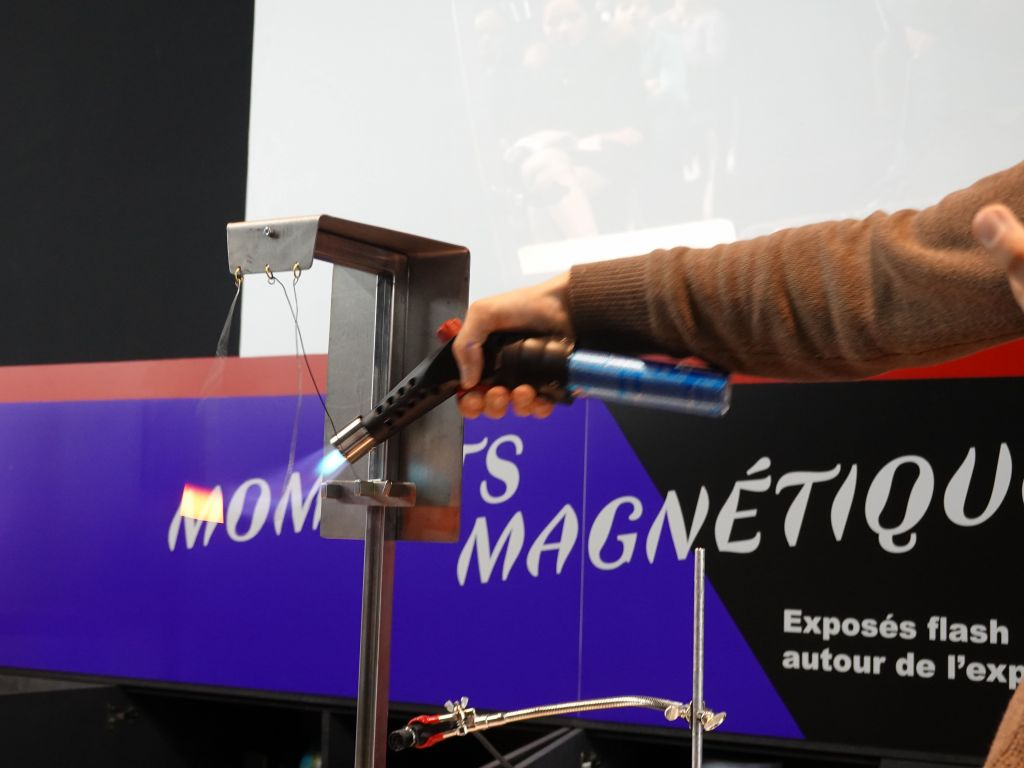 exhibits on magnetism, showing magnets lose their properties when they are too warm