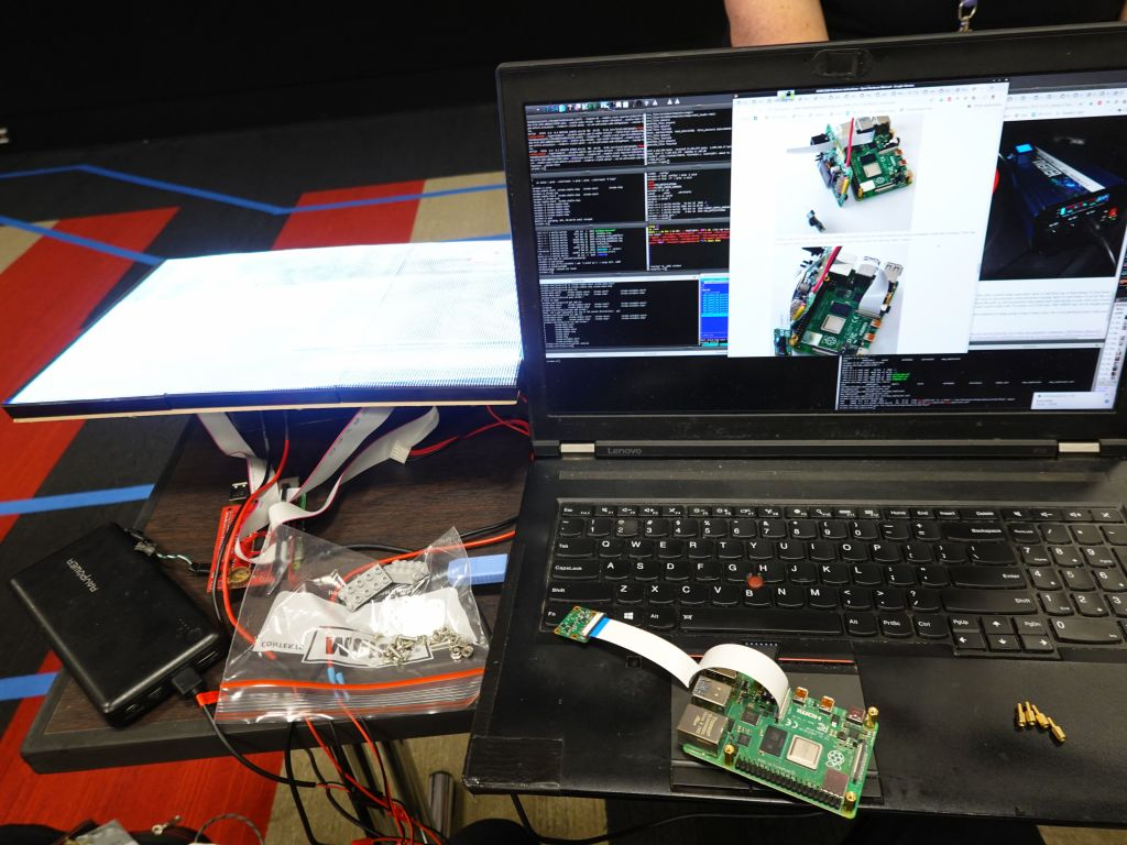 Raspberry Pi running the car
