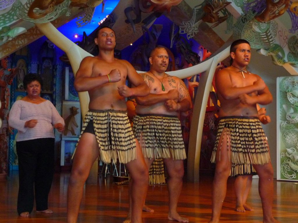 The Maori performed for us