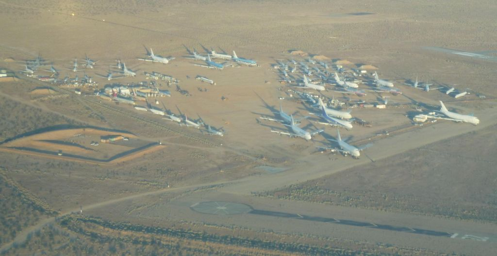 Airliner Graveyard at Mohave Spaceport