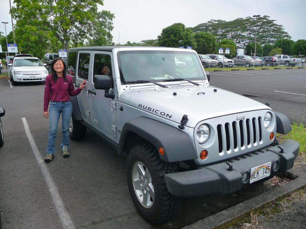 Our rental 4x4 Jeep Rubicon
