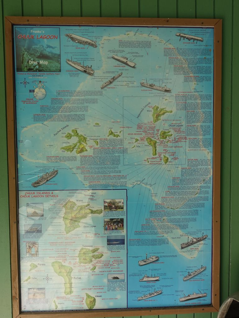 A nice map of all the dive sites in our area