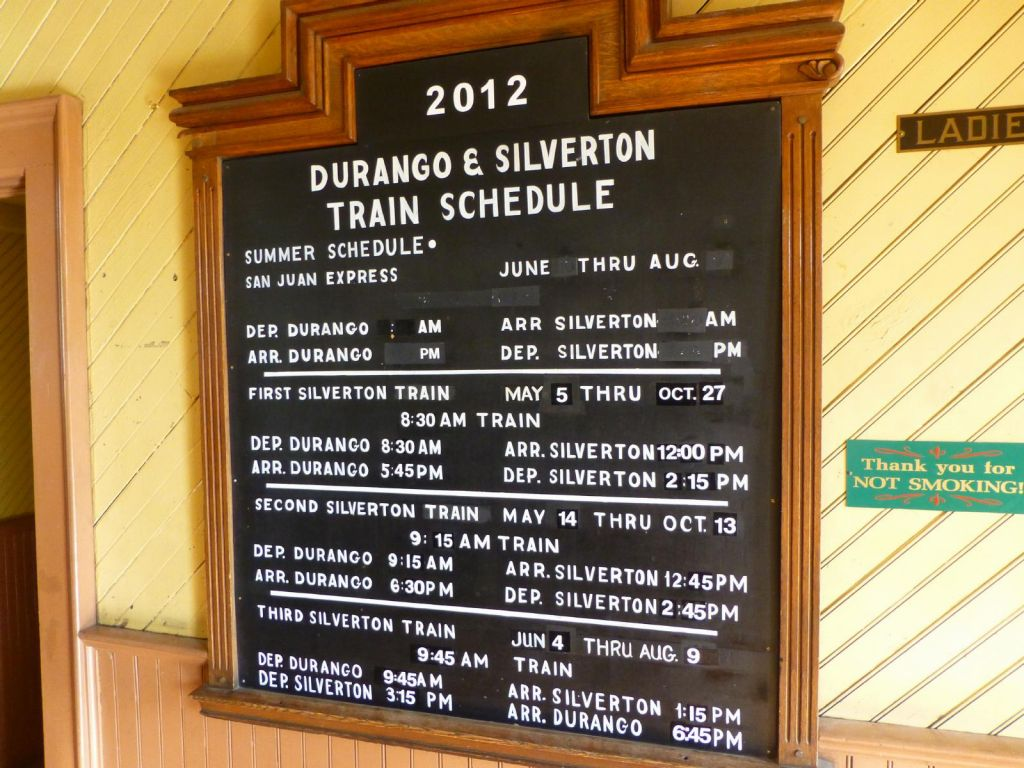 It's a long train ride to silverton: 7H return (or more than twice as slow as driving)