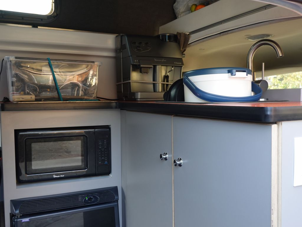 the kitchen is definitely better than other campervans that trade this space for a 2nd row of seats