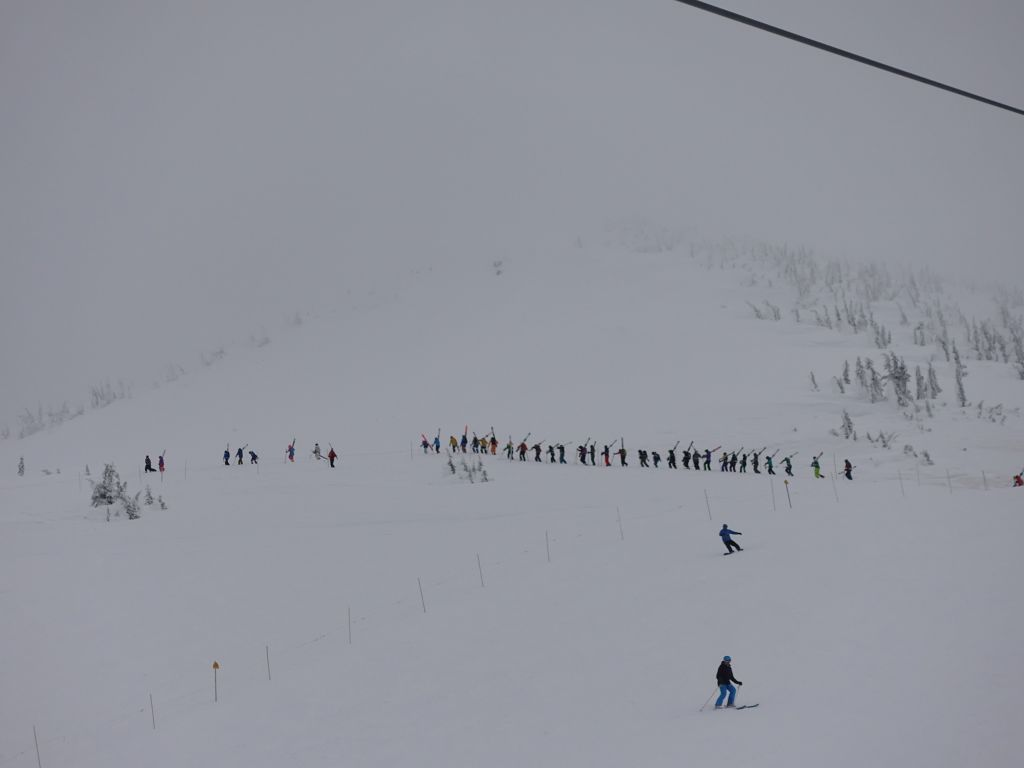 it's called the lemmings line, a hike to the north bowl