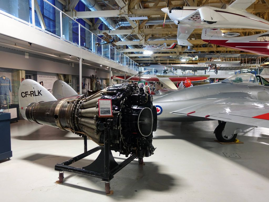 hard to believe that jet engine fits in the Havilland Vampire