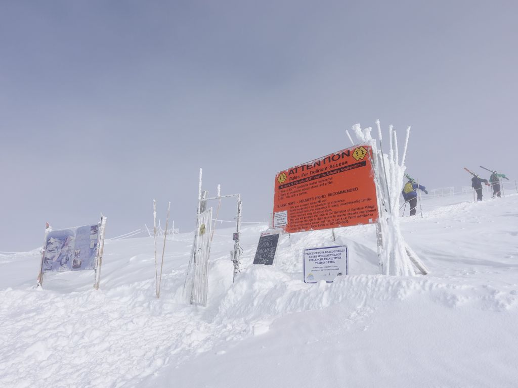 backcountry gate that required an avalanche beacon