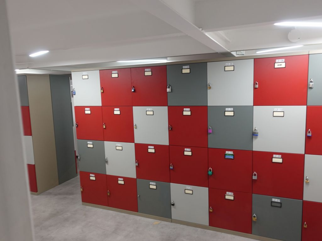 lockers for each person working there