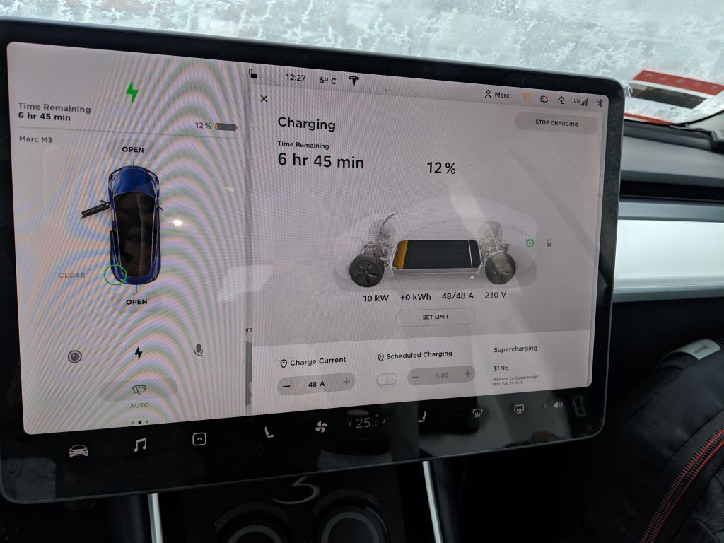 their Tesla charger is good, 10kW/48A. I didn't even know my M3 AWD could charge at 48A