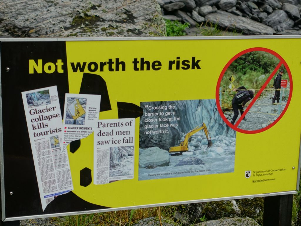 they don't want you to try and hike to the glacier yourself