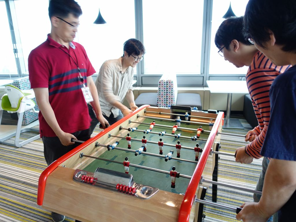foosball is taken seriously in South Korea, great :)