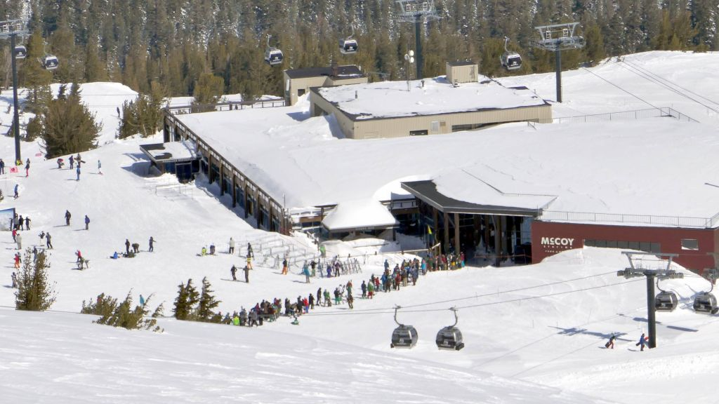 line at the mid station gondola. It was better go to all the way back down and get it there