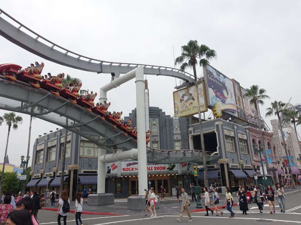 Hollywood Dream, the ride was an ok roller coaster, but not worth the normal line