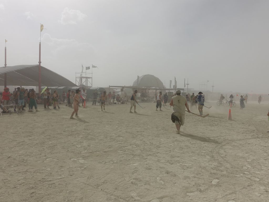 dust hockey by center camp