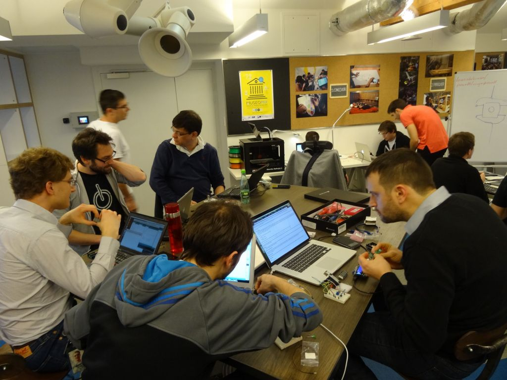 they were running the arduino workshop that day, cool!