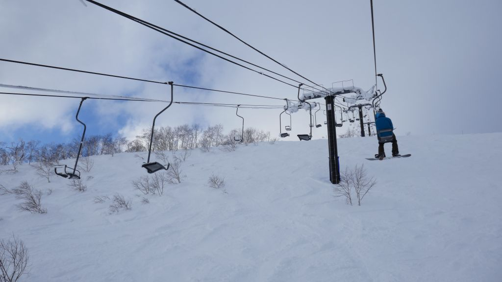 single chair lifts, don't fall off :)