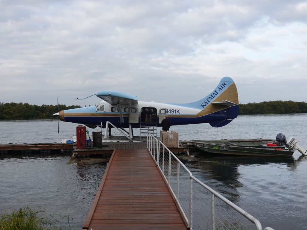 our plane was already in the water