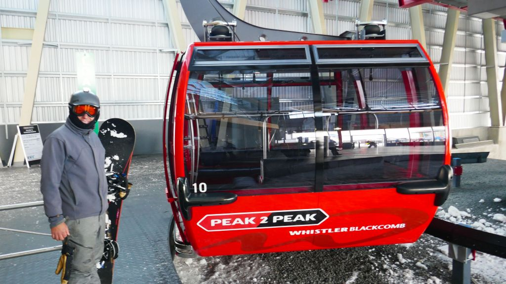 quite convenient getting across with peak 2 peak, just 15mn