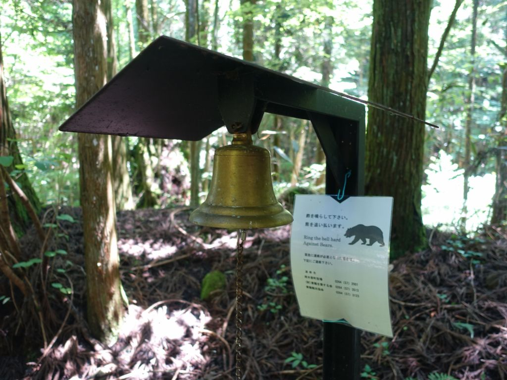 you're supposed to ring the bell to scare the bears away