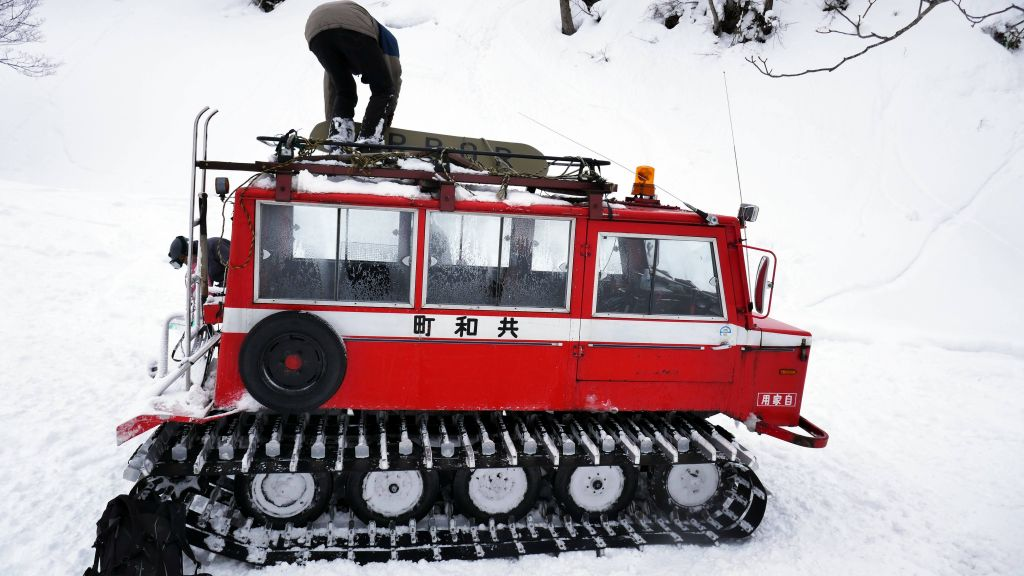 our new snowcat after the first one broke