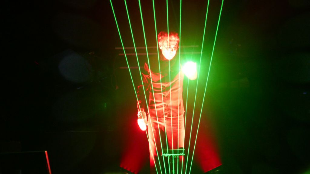 JMJ is most well known for his laser musical harp