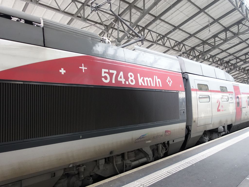 France did break and still holds the world speed record for wheeled trains