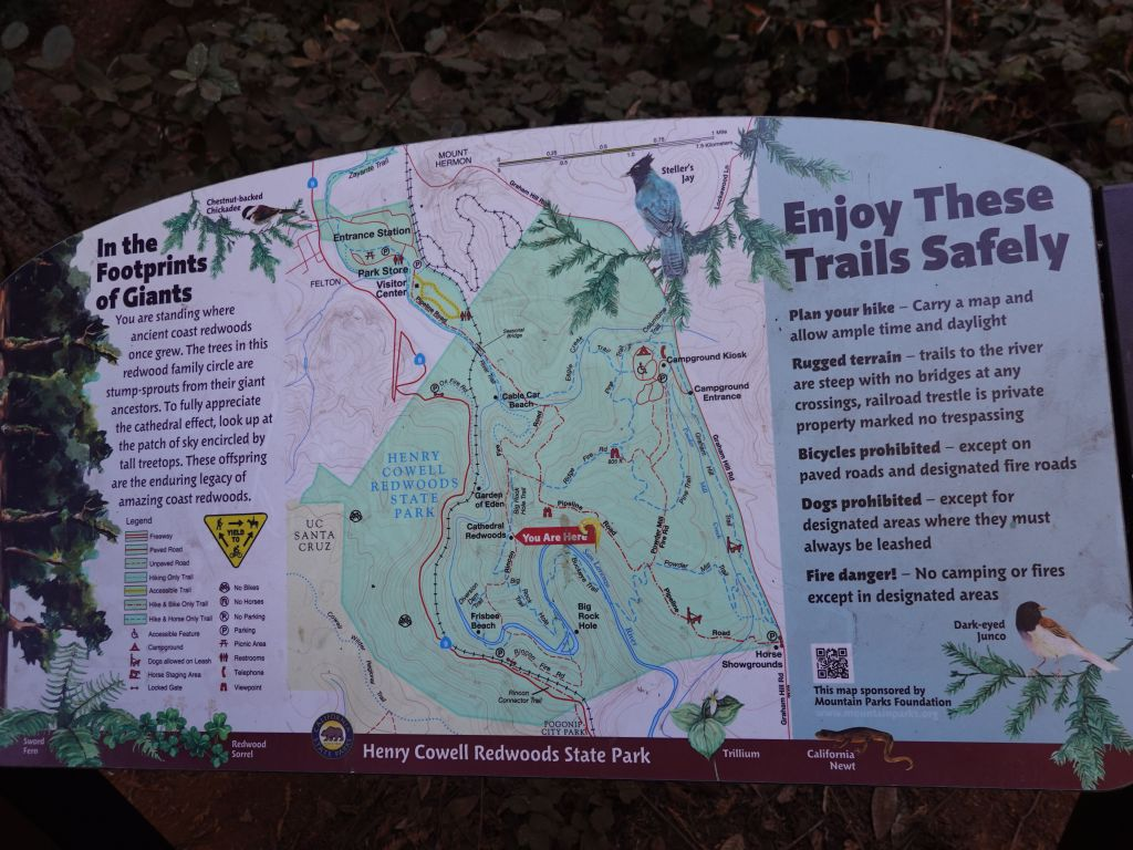 the trail maps was incomplete and at times, just a suggestion