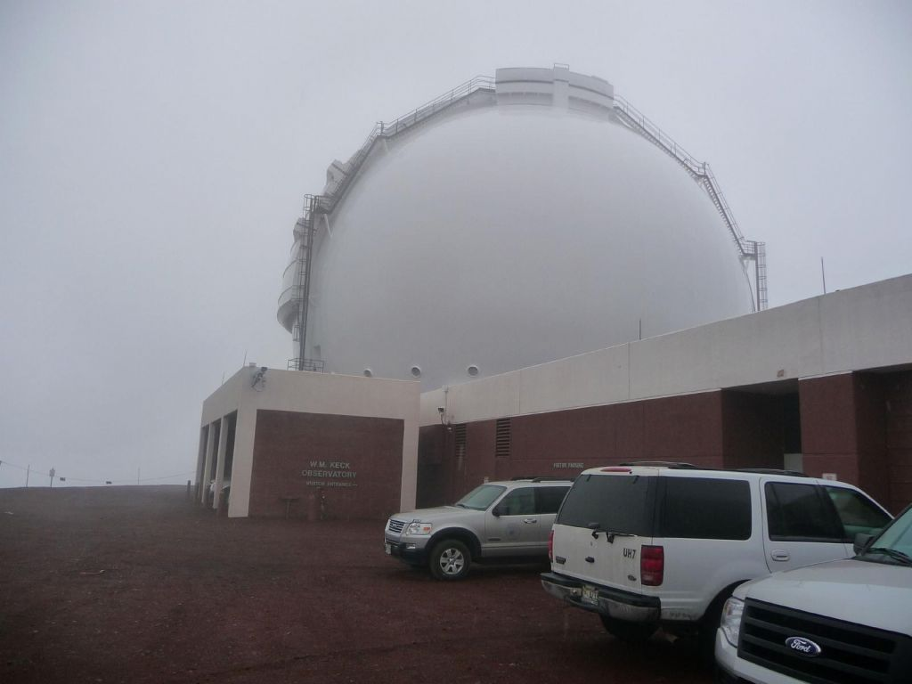 half of the Keck observatory