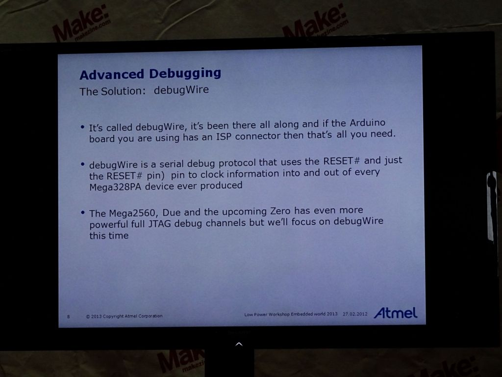 another talk from Atmel on arduino debugwire was very interesting too