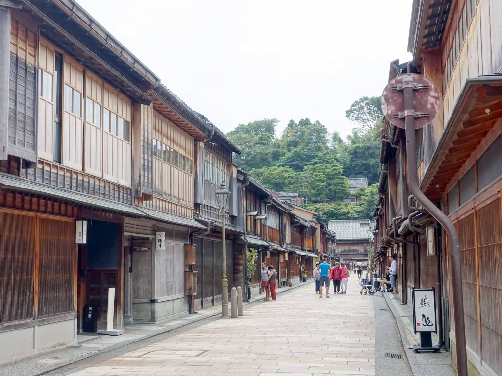 *Higashi Chaya District, were geishas perform (less so nowadays, but still)