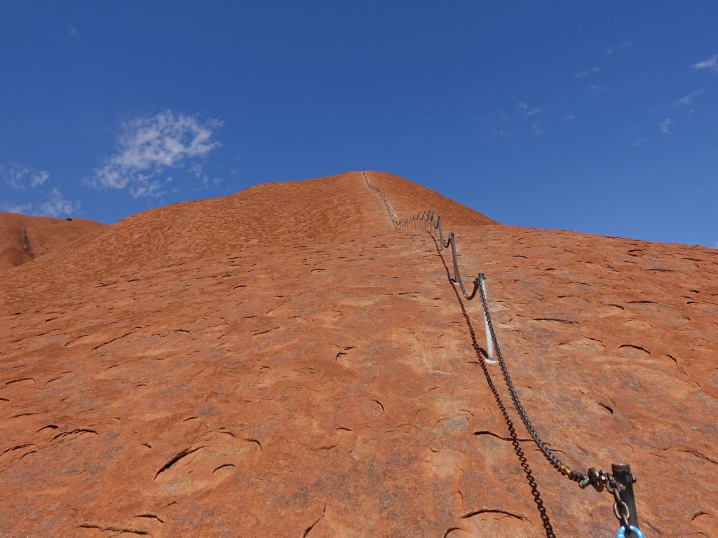 I only had 10mn to climb maybe a 3rd of it
