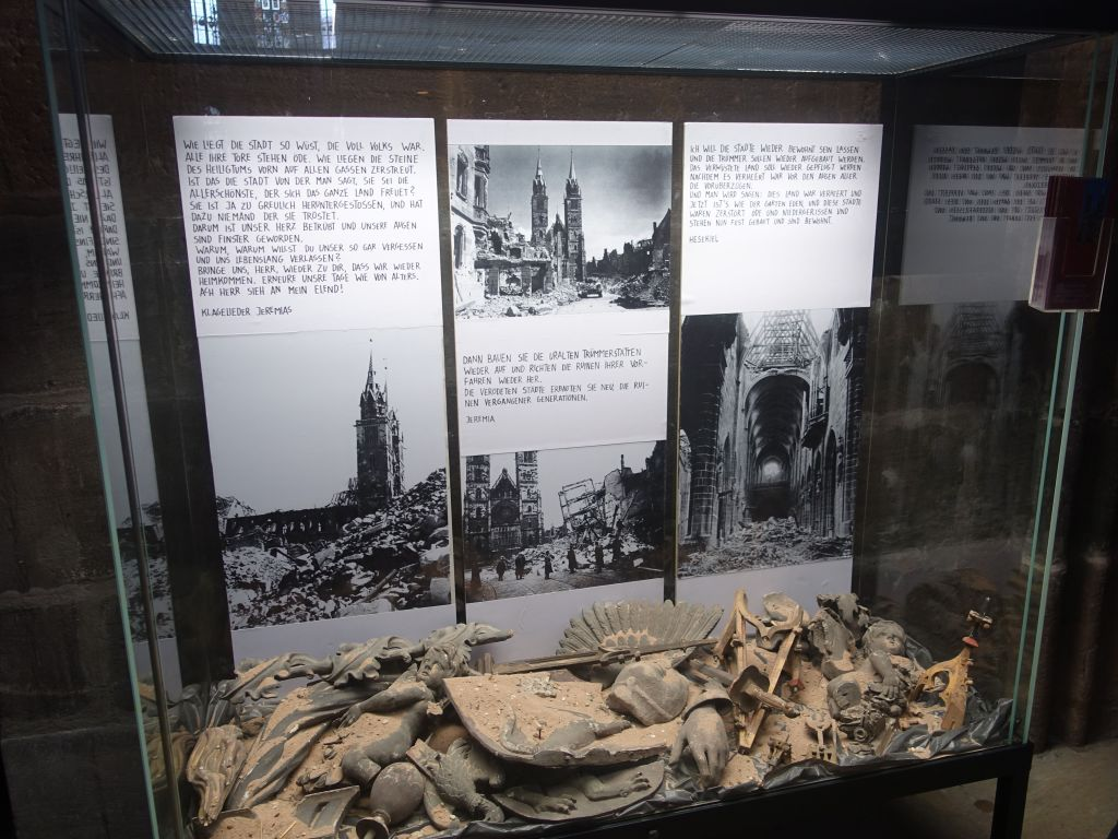 the church, like most of the city, was heavily damaged by WWII bombing and a lot was rebuilt