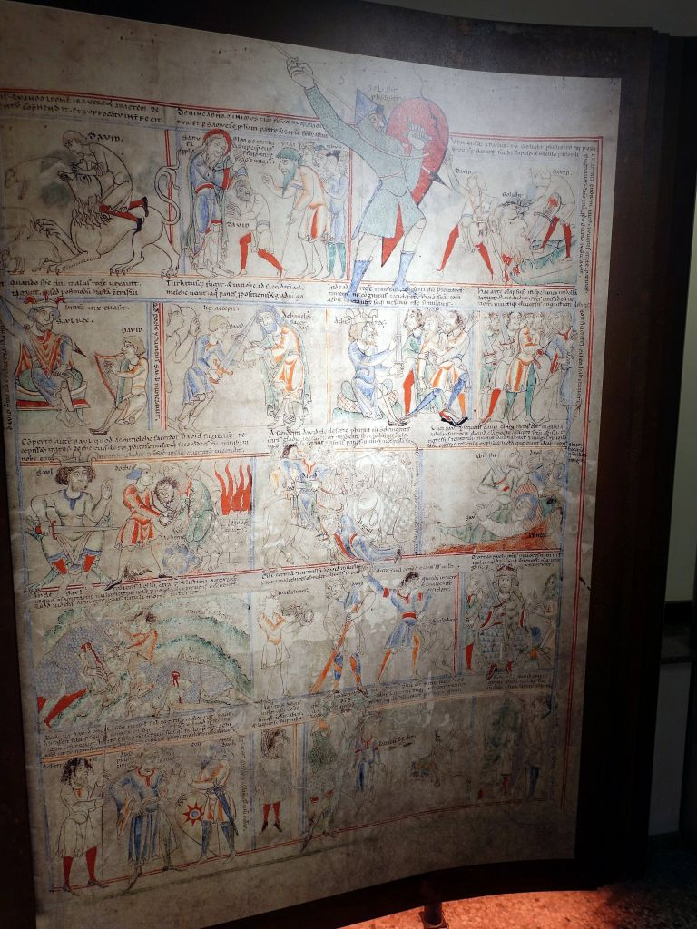 the museum pointed out that the first comic strips actually came from the egyptians