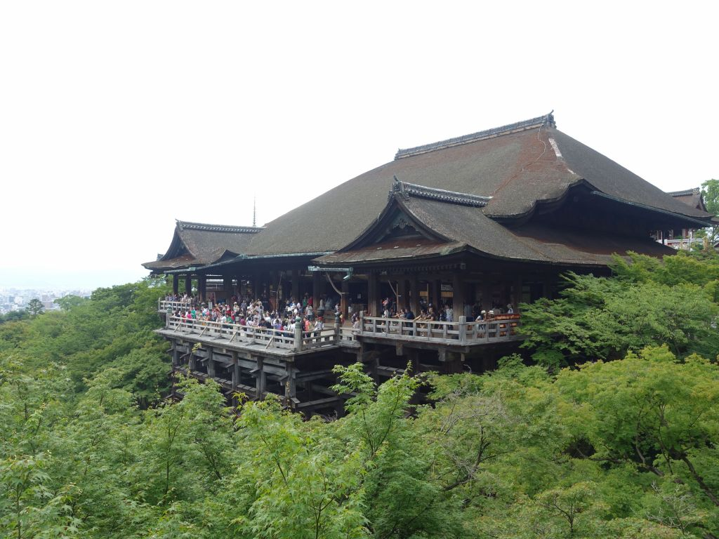 and we arrived at Kiyomizu Dera