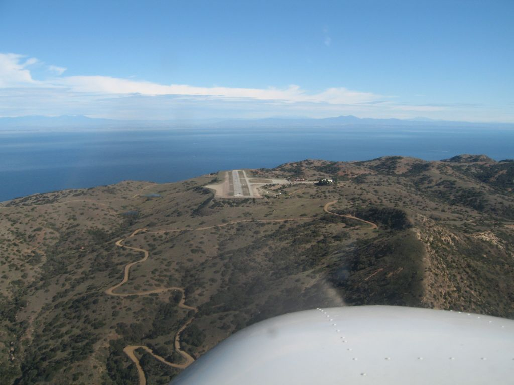 landing at Catalina airport