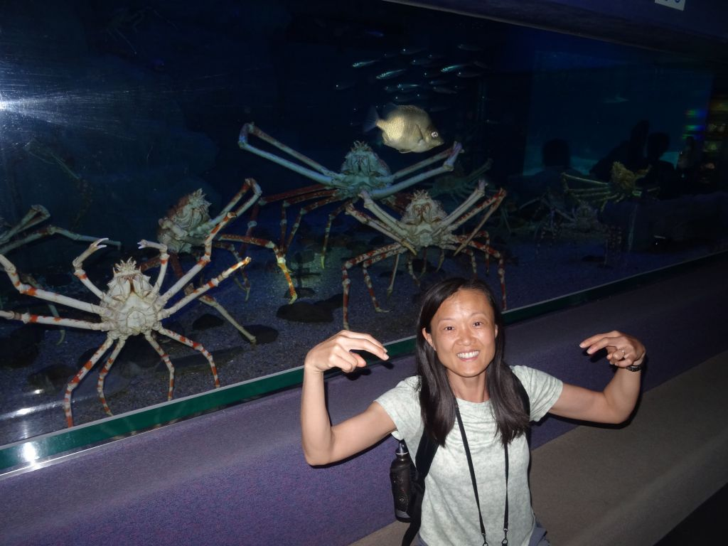 Jennifer got excited by all this crab :)