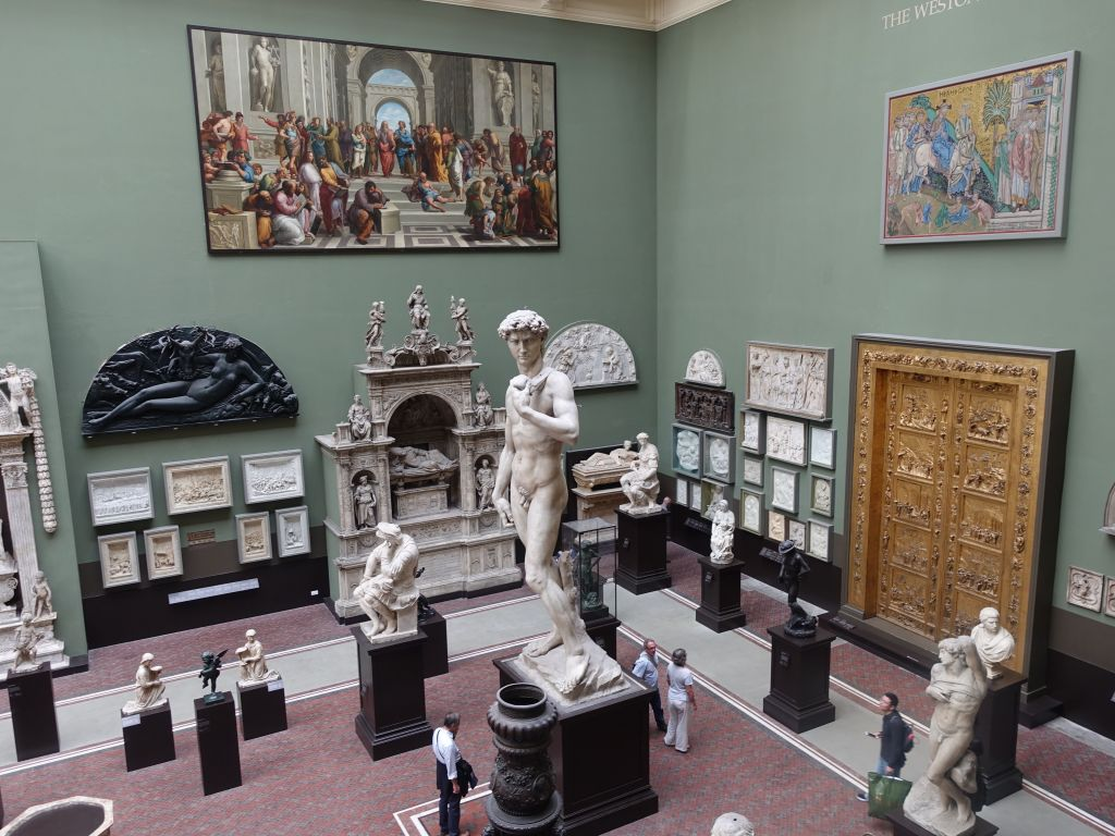 great room with marble and statues: